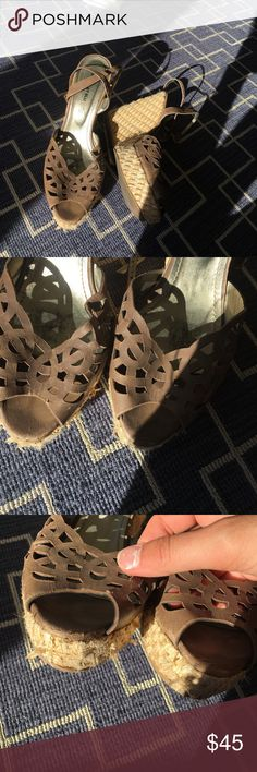 CHOCOLAT BLU WEDGES Super cute and summery • tweed coming undone in small places as pictured chocolat blu Shoes Wedges