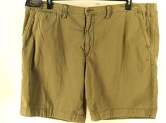 POLO RALPH LAUREN Big Tall OLIVE GREEN RUGGED KHAKI CHINO CLASSIC FIT SHORTS 50B #PoloRalphLauren #KhakisChinos