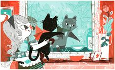 Alice in Wonderland by Meg Hunt. Love the color scheme.