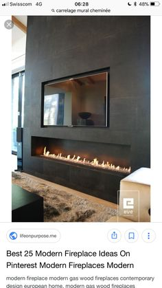 I like the shape of this fireplace with the tv though