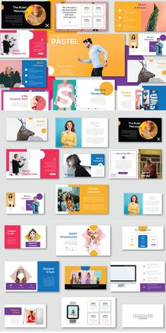 Overview PASTEL has a Minimal professional, ultra-modern and unique design, where each slide is created with love and attention to detail. Presentation Slides Design, Corporate Presentation, Presentation Layout, Brand Presentation, Fashion Logo Design, Web Design, Layout Design, Graphic Design, Corporate Branding