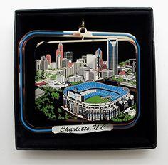 Minneapolis Minnesota Brass Ornament City Skyline Sports Stadiums Black Gift Box