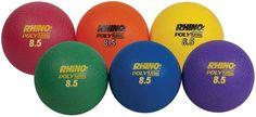 "8.5"" Ultimate Rhino Poly Playballs - Set of 6"