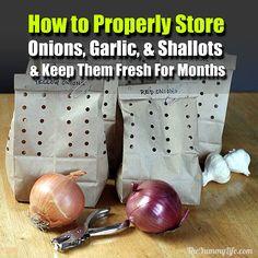 How to Properly Store Onions, Garlic, & Shallots - SHTF Preparedness