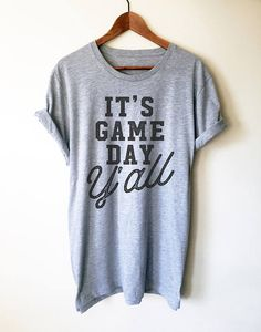 $24. It's Game Day Y'all Unisex Shirt - Game Day Shirt, Football Shirt, Tailgating Shirt, Football Season, Basketball Gameday, Gameday Tees, Fan, Cheerleading shirt! #cheerleading #ad #gameday