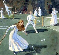 huariqueje:    A Game of Tennis in Battersea Park  -  James... #Impressionism #Art #Impresionismo #Impressionismus #Impressionnisme #印象主義 #Импрессионизм ☺️✏️ - https://wp.me/p7Gh1Z-1TL #kunst #art #arte #sztuka #ਕਲਾ #konst #τέχνη #アート