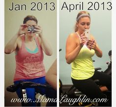 mama laughlin post on weight lifting: difference in four months from lifting weights!
