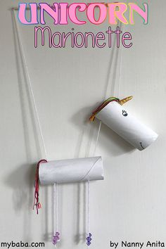 Use spare loo rolls to make a loo roll unicorn marionette. Not only is it a fun craft to make but it also makes a great homemade toy to play with. Arts And Crafts Storage, Arts And Crafts For Teens, Art And Craft Videos, Arts And Crafts Furniture, Arts And Crafts House, Easy Arts And Crafts, Arts And Crafts Projects, Crafts To Sell, Fun Crafts