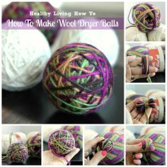 How To Make Wool Dryer Balls + reasons to ditch toxic dryer sheets