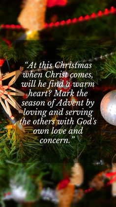 Merry Christmas thoughts quotes for friends and Xmas wisdom for family: At this Christmas when Christ comes, will He find a warm heart? Mark the season of Advent by loving and serving the others with God's own love and concern. #christmasthoughtsquoteswisdom #christmaswisdom #christmasthoughtsforfriends