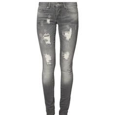 Jeans mit Usedeffekt - Lässige graue Jeans von Only. Die Usedeffekte machen sie zu einem echten Lieblingsteil. - ab 39,95€