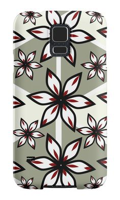 Flowers and triangular #patterns by cocodes #SamsungGalaxy case http://www.redbubble.com/people/cocodes/works/21720517-flowers-and-triangular-patterns?p=samsung-galaxy-case
