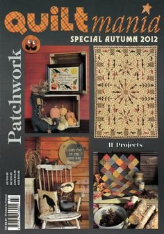 Quiltmania - Patchwork - The Quilt Magazine from France - Special Autumn 2012