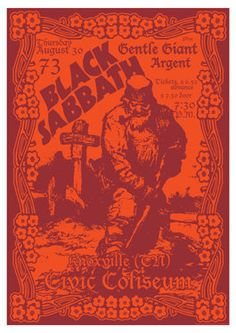 Shop for poster on Etsy, the place to express your creativity through the buying and selling of handmade and vintage goods. Black Sabbath Tour, Black Sabbath Concert, Hard Rock Music, Play That Funky Music, Tour Posters, Band Posters, Music Posters, Heavy Rock, Heavy Metal
