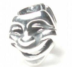B42 Faces Theatre Mask Thespian Bead .925 Sterling Silver Bead Charm Pandora Chamilia Biagi & European Bracelets Compatible Beads Hunter silver Charm. $16.83. Theatrical Mask Thespian Bead. 1 Sterling silver Charm .925. European style charm.. Fits Pandora, Chamilia, Biagi & European bracelets.. Compatible with 3mm & smaller Snake Chain bracelet.. Unthreaded European Story Bead jewelry.. Save 66% Off!