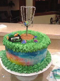Tie Dye Disc Golf Cake... Coolest Birthday Cake Ideas