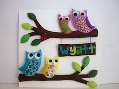 Owls name decoration.  So cute.