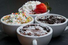 3-Minute Mug Cakes 4 Ways