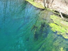 2) Blue Hole  This 1920s popular tourist attraction did not in fact die with the 90s. Castalia State Fish Hatchery holds a another blue hole that's open to public observation and speculation about where this deep, blue water actually comes from.