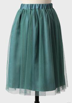 Spring Romance Tulle Midi Skirt | Modern Vintage Bottoms