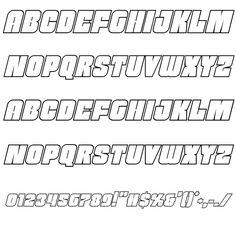 Funk Machine Outline Italic Font