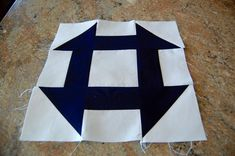 """How to Make a Churn Dash Quilt Block-By Lauren Lang ...WANT TO MAKE YOUR OWN CHURN DASH QUILT BLOCK? FOLLOW THE SIMPLE STEPS BELOW! Choose two contrasting colors for your block. My block here will measure 12"""" wide, finished. Once you understand the building blocks of a churn dash, though, you should be able to make it in any size you prefer."""