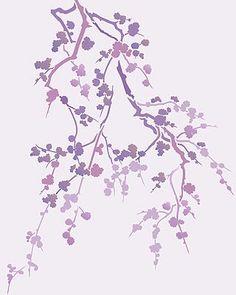 Cherry Blossom Stencil Blossom Silhouette Stencil 4