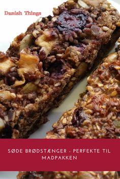 Søde brødstænger - perfekte til madpakken I Want To Eat, 20 Min, Danish, Banana Bread, Dairy Free, Muffins, Healthy Recipes, Healthy Food, Sweet
