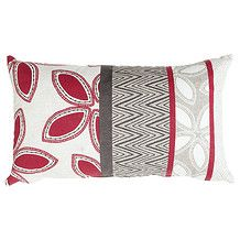Lovina Printed Breakfast Cushion - Red.  Funky cushions to tie together the existing colours in main room