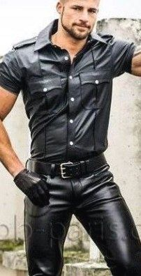 Fitish Shirt ideas of Fitish Shirt - Fitish Shirt - ideas of Fitish Shirt - stylish casual jackets. Fitish Shirt ideas of Fitish Shirt stylish casual jackets. Mens Leather Pants, Biker Leather, Black Leather, Motard Sexy, Revival Clothing, Stylish Men, Leather Fashion, Mens Fashion, Sexy Men