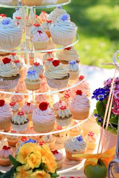 """Everything Wedding DIY: Look""""Blog"""": Intimate Tea Party Wedding ...I want cupcake trays at each table and maybe use them as place cards/dessert."""