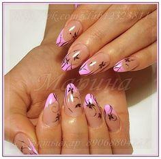 Acrylic Nail Designs, Nail Art Designs, Acrylic Nails, Water Marble Nail Art, Tie Dye Nails, Nagellack Design, Classy Nail Designs, French Tip Nails, Classy Nails
