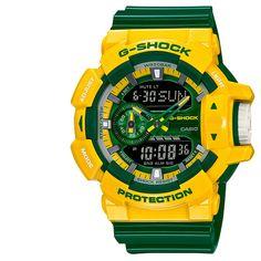 Men's G Shock Sports Analog/Digital Watch GA400CS-9ACR Green Our Price:$104.95 ewatchesusa.com