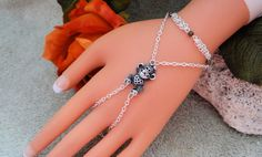 Love Monkey Hand Chain Slave Bracelet Hand Harness by JWBoutique1, $18.00