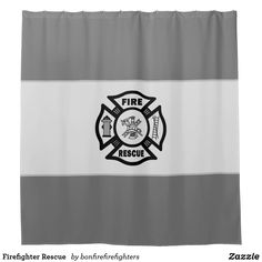 Firefighter Rescue Shower Curtain Firefighter Emt, Custom Shower Curtains, Powder Room, Personal Style, Powder Rooms, Toilet, Toilets