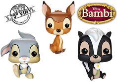 Bonecos Funko Pop! do Filme Bambi da Disney!