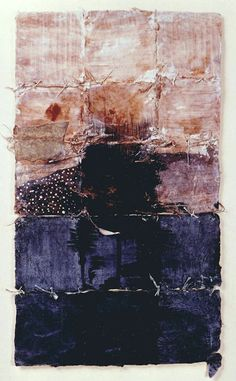 Takahiko Hayashi ~ D-18, 1987 (painting, collage on paper)