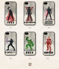 iPhone 5 hard case the Avengers /choose one/ the Hulk , Hawkeye , Captain America , Iron Man , Thor