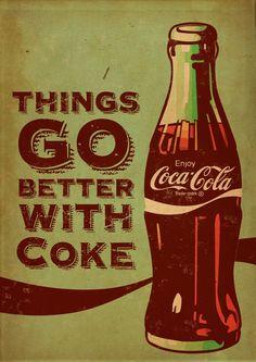 Coca Cola sells the better life. It sells a felling and an upper edge. If you drink Coke you fell better.   http://produto.mercadolivre.com.br/MLB-673830863-quadros-decorativos-madeira-retr-vintage-cerveja-carros-_JM