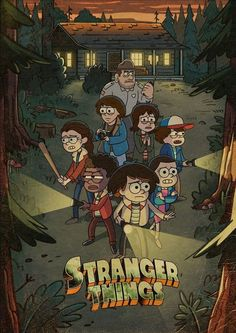 Stranger things in gravity falls animation Stranger Things Netflix, Stranger Things Quote, Stranger Things Aesthetic, Stranger Things Season, Stranger Things Steve, Desenhos Gravity Falls, Bd Art, Cute Wallpapers, Anime
