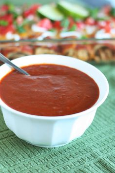 Red Enchilada Sauce {from Scratch} - Cooking Classy - This is definitely my favorite enchilada sauce recipe. It has a hint of cocoa and cinnamon.