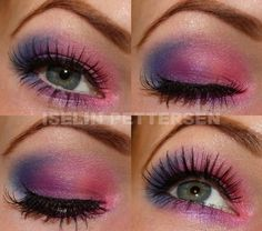 Pink/purple & blue