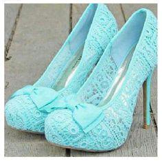 Cute baby blue heels
