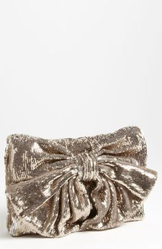 #BAG sequin bow clutch