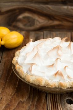 My mom is famous for her lemon meringue pie and now you can make it too! ohsweetbasil.com