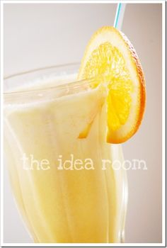 Loved this Growing Up  Orange Julius  6 oz. frozen orange juice concentrate  1 cup milk  1 cup water  1/4 cup granulated sugar AND 1/4  cup powdered sugar  sugar 1 tsp. vanilla extract  8 ice cubes  1. Combine all ingredients except ice cubes in blender.  2. Blend for about 1-2 minutes and then add ice cubes one at a time.
