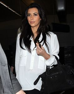 Kim Kardashian in another 'normal' pregnancy outfit, look good | baby bump chic