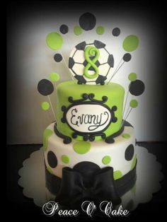 Soccer cake-make a few minor adjustments and take off the soccor ball