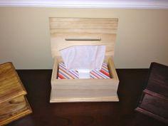 Custom Made Wooden Tissue Box by YeOldeWoodShopNJ on Etsy, $17.77