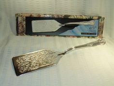 Davco  Vintage   Silver Plated Lasagna  Cake  by SandiesGiftCorner